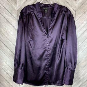 Lane Bryant satin purple blouse 18/20